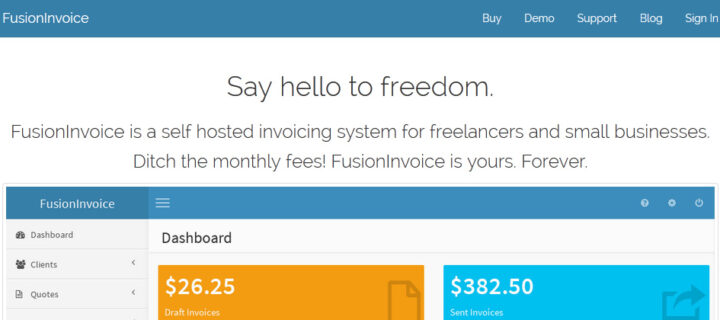 FusionInvoice – invoicing for freelancers and entrepreneurs